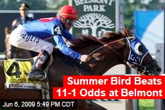 Summer Bird Beats 11-1 Odds at Belmont