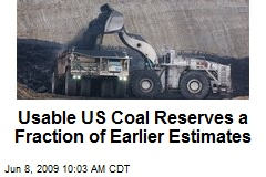 Usable US Coal Reserves a Fraction of Earlier Estimates