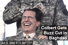 Colbert Gets Buzz Cut in Baghdad