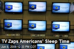 TV Zaps Americans' Sleep Time