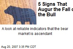 5 Signs That Augur the Fall of the Bull