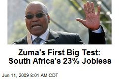 Zuma's First Big Test: South Africa's 23% Jobless