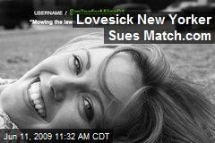 Lovesick New Yorker Sues Match.com