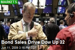 Bond Sales Drive Dow Up 32