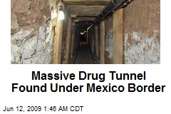 Massive Drug Tunnel Found Under Mexico Border