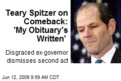 Teary Spitzer on Comeback: 'My Obituary's Written'