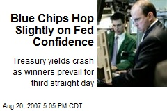 Blue Chips Hop Slightly on Fed Confidence