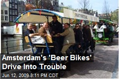 Amsterdam's 'Beer Bikes' Drive Into Trouble