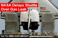 NASA Delays Shuttle Over Gas Leak