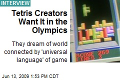 Tetris Creators Want It in the Olympics