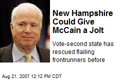 New Hampshire Could Give McCain a Jolt