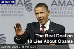 The Real Deal on 10 Lies About Obama