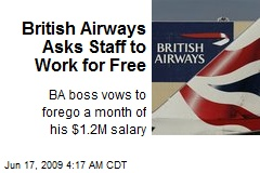 British Airways Asks Staff to Work for Free