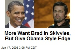 More Want Brad in Skivvies, But Give Obama Style Edge
