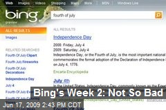 Bing's Week 2: Not So Bad