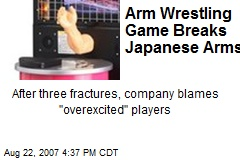 Arm Wrestling Game Breaks Japanese Arms