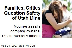 Families, Critics Question Safety of Utah Mine