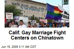 Calif. Gay Marriage Fight Centers on Chinatown