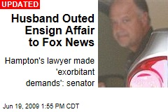 Husband Outed Ensign Affair to Fox News