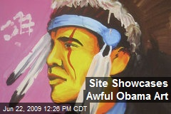 Site Showcases Awful Obama Art