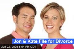 Jon & Kate File for Divorce
