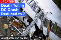 Death Toll in DC Crash Reduced to 7
