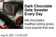 Dark Chocolate Gets Sweeter Every Day