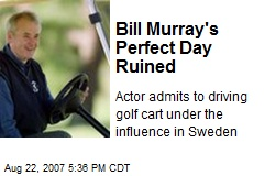 Bill Murray's Perfect Day Ruined