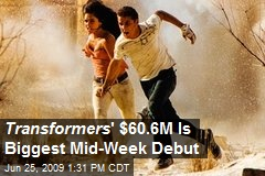 Transformers ' $60.6M Is Biggest Mid-Week Debut