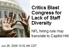 Critics Blast Congress for Lack of Staff Diversity