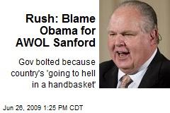 Rush: Blame Obama for AWOL Sanford