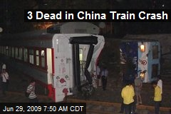 3 Dead in China Train Crash