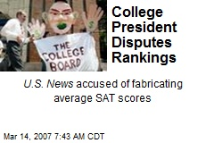 College President Disputes Rankings