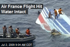 Air France Flight Hit Water Intact