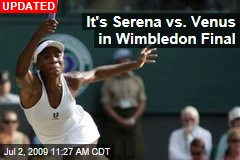 It's Serena vs. Venus in Wimbledon Final