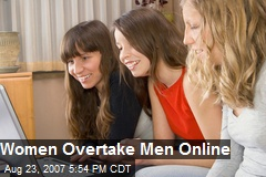 Women Overtake Men Online