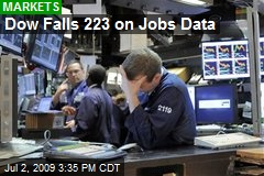 Dow Falls 223 on Jobs Data