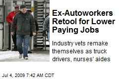 Ex-Autoworkers Retool for Lower Paying Jobs
