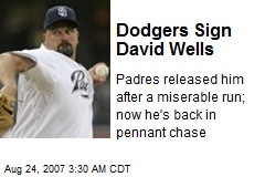 Dodgers Sign David Wells