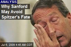 Why Sanford May Avoid Spitzer's Fate