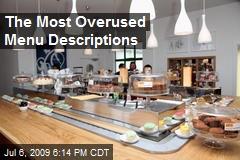 The Most Overused Menu Descriptions