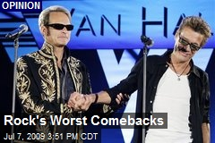 Rock's Worst Comebacks