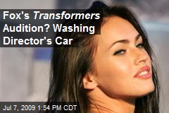 Fox's Transformers Audition? Washing Director's Car
