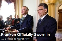 Franken Officially Sworn In