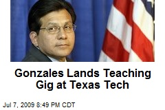 Gonzales Lands Teaching Gig at Texas Tech