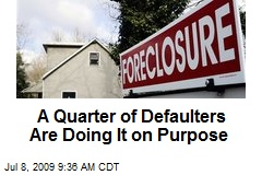 A Quarter of Defaulters Are Doing It on Purpose