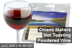 Chianti Makers Not Toasting Powdered Wine