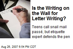 Is the Writing on the Wall for Letter Writing?
