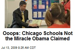 Ooops: Chicago Schools Not the Miracle Obama Claimed