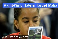 Right-Wing Haters Target Malia